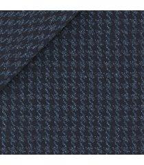 giacca da uomo su misura, loro piana, blu macro pied de poule, autunno inverno   lanieri
