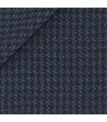 giacca da uomo su misura, loro piana, blu macro pied de poule, autunno inverno
