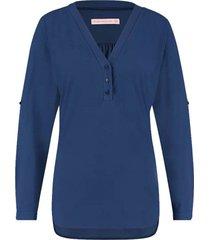 blouse evi donkerblauw