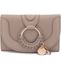 see by chloé stitched layered wallet - grey
