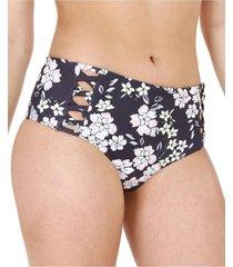 bikini calzón cruzado alto gris h2o wear