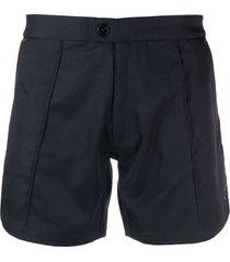 ron dorff diagonal-stripe tennis shorts - blue