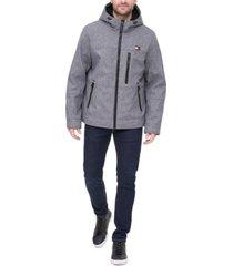 tommy hilfiger men's sherpa-lined softshell hooded jacket