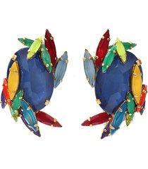 rhinestone splash earrings