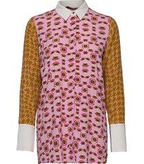 nubeige shirt overhemd met lange mouwen multi/patroon nümph