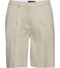 o2. stretch linen pleated shorts bermudashorts shorts beige gant