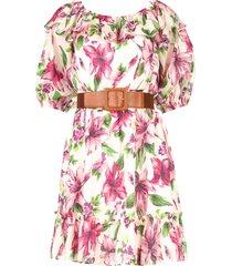 jurk met bloemenprint nora  roze