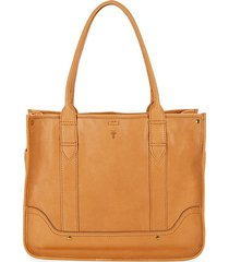 madison leather shopper tote