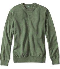 cotton/silk/cashmere crewneck sweater, pine, xx large