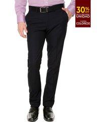 pantalón formal azul oscuro colore