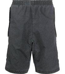stone island elasticated cargo shorts - grey