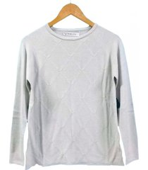 sweater gris berkland rombito texturado