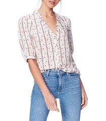 women's paige provence floral stripe top