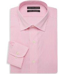 saks fifth avenue men's slim-fit striped dress shirt - pink - size 15.5 34