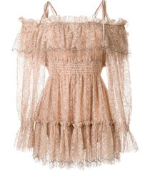 alice mccall calypso lace playsuit - pink