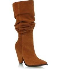 slouch boots em camurça mel