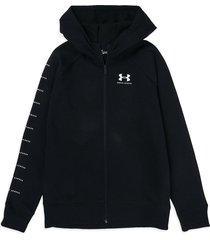 chaqueta negro-blanco under armour rival fleece fz slv grphc
