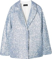 single-breasted blazer with sequins