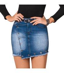 falda kendra azul para mujer croydon