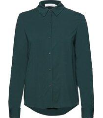 milly np shirt 9942 långärmad skjorta grön samsøe samsøe