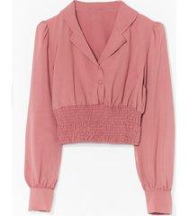 shirring detail blouse - pink