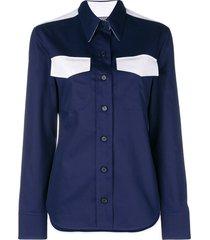 calvin klein 205w39nyc western style shirt - blue