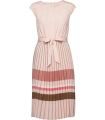 dress woven fabric jurk knielengte roze gerry weber