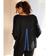 sweatshirt amy vermont zwart::royal blue