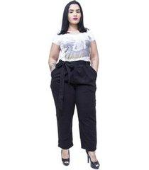calça feminina cambos plus size clochard karoll