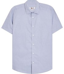camisa manga corta a rayas color azul, talla s