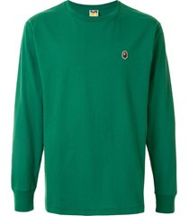 a bathing ape® long sleeve ape head t-shirt - green