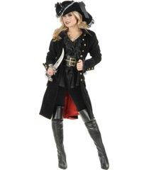 buyseasons women's pirate vixen coat black adult costume