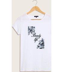 """camiseta """"beauty life"""""" blanco 16"