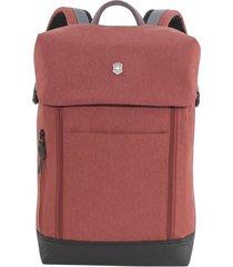 men's victorinox swiss army altmont classic deluxe flapover backpack - burgundy