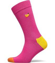 embroidery banana sock underwear socks regular socks rosa happy socks