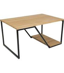 stolik kawowy drewniany loft 100 cm dębowy