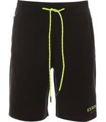 iceberg neon multilogo sweatpant shorts