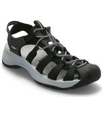 ke astoria west sandal w black-grey shoes summer shoes flat sandals svart keen