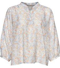 blouse flanja lichtblauw