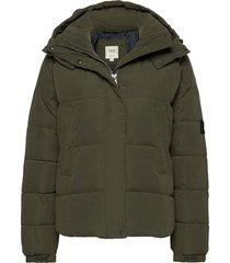 puffer jacket gevoerd jack groen lee jeans