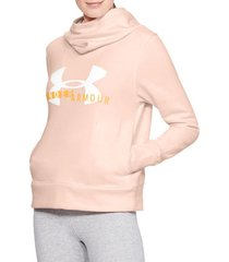 sweater under armour rival fleece logo hoodie 1321185-805