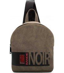 mochila marrón leblu bande noir