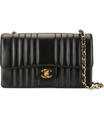 chanel pre-owned mademoiselle cc single chain shoulder bag - black