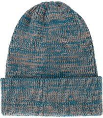 0711 meribel ribbed beanie hat - blue