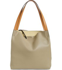 rag & bone passenger perforated leather tote - brown