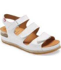 women's on foot 201 slingback platform sandal, size 8us - white