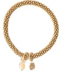 armband a beautiful story jacky citrine shell gold plated bracelet