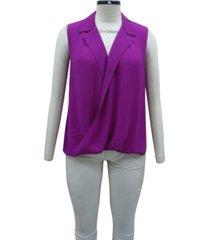 alfani petite sleeveless surplice-neck blouse, created for macy's
