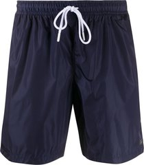 fay drawstring waist swim shorts - blue