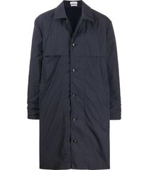 deveaux single breasted mid length coat - black